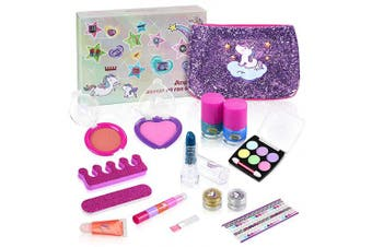 Anpro 15pcs kids make up set , washable cosmetics for little girls birthday gift