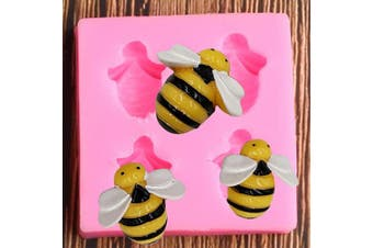 Little Bee Honeybee Animal Silicone Mould for DIY Soap Mould Gum Paste Cupcake Cake Topper Decoration Fondant Mould Ice Cube Desserts Candy Handmade Ice Cream Pudding Jelly Shots Chocolate