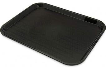 (36cm  x 46cm ) - Carlisle CT141803 Café Standard Cafeteria/Fast Food Tray, 36cm x 46cm , Polypropylene, Black