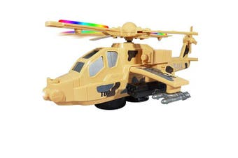 ANJ Kids 2019 Holiday Helicopter Toy for Kids | Battery Operated Dual Playing Modes, Beautiful Flashing Lights and Realistic Sounds Effects Toy Helicopter
