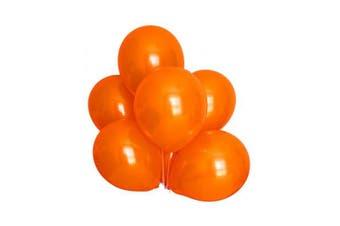 (Orange Color) - BABYJOYBALLOONS: 3.7m orange colour pearlized/ metallic latex balloon for party decoration (orange colour)
