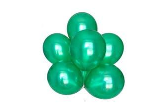 (Green Color) - BABYJOYBALLOONS: 3.7m green colour pearlized/ metallic latex balloon for party decoration (green colour)