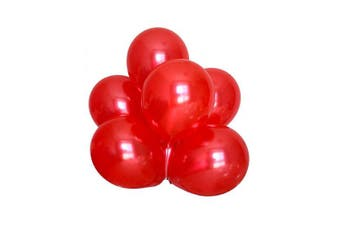 (Red Color) - BABYJOYBALLOONS: 3.7m red colour pearlized/ metallic latex balloon for party decoration (red colour)