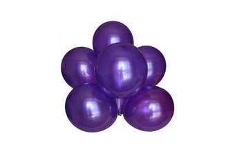 (Purple Color) - BABYJOYBALLOONS: 3.7m purple colour pearlized/ metallic latex balloon for party decoration (purple colour)