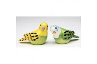 Flights of Fancy Yellow and Green Parakeet Salt and Pepper Shakers Set