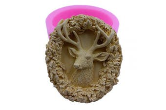 (Deer Head) - Great Mould Deer Head Soap Candle Mould Food Grade Chocolate Cake Moulds Decorating Aromatherapy Gypsum Mould (Deer Head)