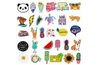 Yanvan Stickers for Water Bottles Big 30-PCS,Aesthetic Stickers,Trendy Stickers for Teens,Girls Perfect for Waterbottle,Laptop,Phone,Travel Extra Durable