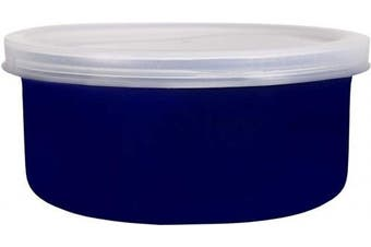 (Blue) - Home Essentials & Beyond Home Essentials Storage Essentials 470ml Round Baker with Lid, Blue