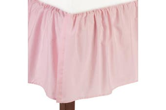 (Pink) - American Baby Company 100% Natural Cotton Percale Ruffled Crib Skirt, Pink, Soft Breathable, for Girls