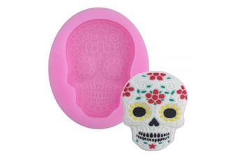 Halloween Skeleton Prank Decor Silicone Mould for DIY Fondant Mould Handmade Ice Cream Desserts Pudding Soap Mould Jelly Shots Cupcake Cake Topper Decoration Ice Cube Gum Paste Chocolate Candy