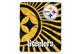 Northwest Pittsburgh Steelers Sherpa 50 x 60 Jersey Throw Blanket