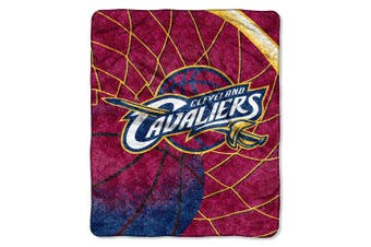 "(Cleveland Cavaliers) - Officially Licenced NBA ""Reflect"" Sherpa on Sherpa Throw Blanket, Multi Colour, 130cm x 150cm"