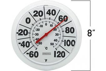 (White) - TAYLOR PRECISION PRODUCTS 20cm Diameter White Outdoor Dial Thermometer