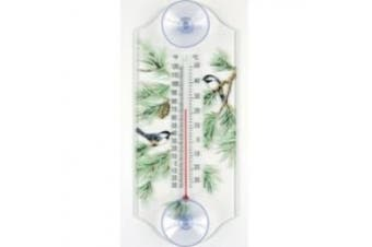 Aspects 115 Classic Style Cardinal and Chickadee Window Thermometer