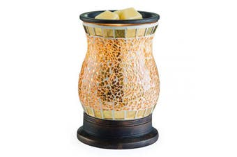 (Gilded Glass) - CANDLE WARMERS ETC. Illumination Fragrance Warmer- Light-Up Warmer for Warming Scented Candle Wax Melts and Tarts or Essential Oils to Freshen Room, Gilded Glass