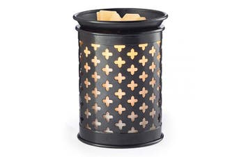 (Black) - Candle Warmers Etc. Tin Punched Illumination Fragrance Warmer, Old World