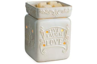 (Live Well) - CANDLE WARMERS ETC. Illumination Fragrance Warmer- Light-Up Warmer for Warming Scented Candle Wax Melts and Tarts or Essential Oils to Freshen Room, Live Well