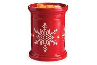 (Snowflake) - CANDLE WARMERS ETC. Holiday Illumination Fragrance Warmer- Light-Up Warmer for Warming Scented Candle Wax Melts and Tarts or Essential Oils to Freshen Room, Snowflake