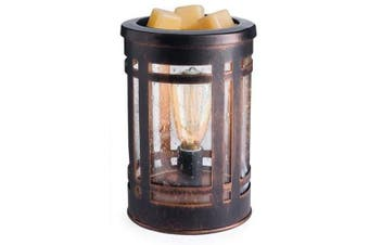 (Mission) - CANDLE WARMERS ETC. Edison Style Illumination Fragrance Warmer- Light-Up Warmer for Warming Scented Candle Wax Melts and Tarts or Essential Oils to Freshen Room, Mission