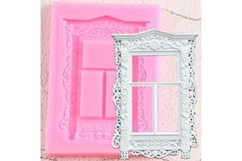 Window Frame Shaped Silicone Mould for DIY Crystal Cupcake Cake Topper Decoration Desserts Chocolate Fondant Mould Soap Mould Ice Cube Pudding Handmade Ice Cream Gum Paste Jelly Shots Candy