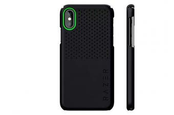 (iPhone XR, Arctech Slim, Matte Black) - Razer Arctech Slim for iPhone XR Case: Thermaphene & Venting Performance Cooling - Wireless Charging Compatible - Matte Black