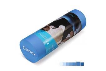 (90cm , blue) - Gonex EVA Foam Roller, High Density Yoga Muscle Foam Roller for Deep Tissue Massage, Back Pain, Physical Therapy, Exercise 46cm x 15cm / 90cm x 15cm