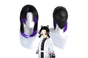 (Kochou Shinobu) - Ani·Lnc Demon Slayer: Kimetsu no Yaiba Cosplay Wig, Kamado Tanjirou Kamado Nezuko Synthetic Hair Wigs for Anime-Fans (Kochou Shinobu)
