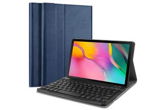 (Navy) - ProCase Galaxy Tab A 10.1 2019 Keyboard Case T510 T515, Slim Shell Lightweight Cover with Magnetically Detachable Wireless Keyboard for Galaxy Tab A 26cm SM-T510 SM-T515 2019 -Navy