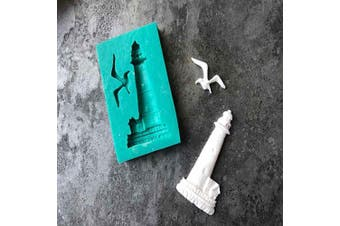 Lighthouse Bird Beacon Sea Mew Silicone Mould DIY Candy Soap Mould Chocolate Desserts Pudding Fondant Mould Jelly Shots Gum Paste Crystal Cupcake Cake Topper Decoration Ice Cube Handmade Ice Cream
