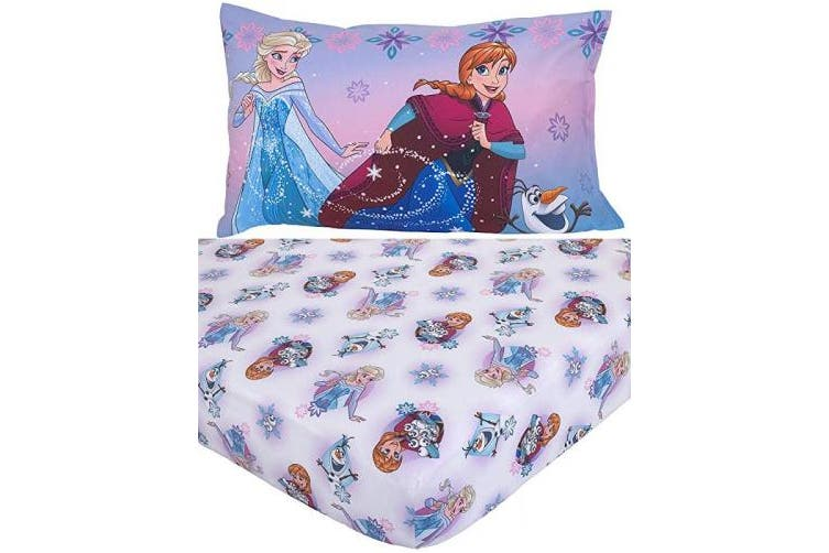 (Frozen - 2 Pc Toddler Sheet Set) - Disney Frozen 2-Piece Toddler Sheet Set