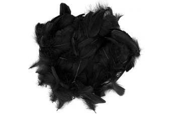 (black) - Benvo 400 Pcs Black Feathers 3-13cm Assorted Natural Black Duck Feathers for Arts and Crafts Projects Dream Catchers Party Decoration Dress-ups Hanging Garlands