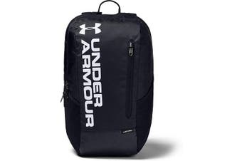 (One Size, Black / Black / White (001)) - Under Armour Unisex's Gametime Bp Backpack