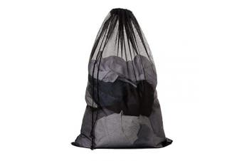 (Black-1pc) - Meowoo Large Mesh Laundry Bag with Drawstring,Large Laundry Bags for Delicates Heavy Duty Net Wash Bag for Washing Machine (Black-1PC)