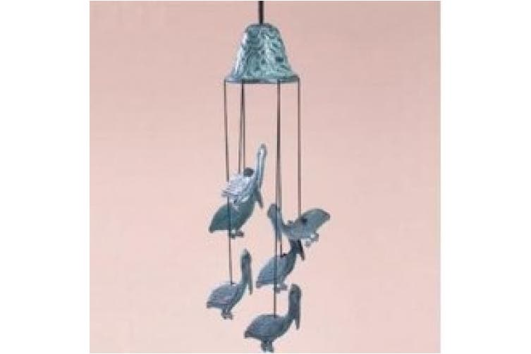 SPI Home 30488 Tropical Island Pelican Wind Chime Garden Decor