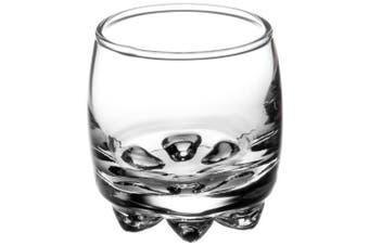 (6, 60ml) - Bormioli Rocco Galassia Shot Glasses – Gift Set Of 6 Drinking Shot Cups With Elegant Curved Shape, Heavy Sham & Interlocking Feet – Short Shooter Tumblers For Liquors & Spirits (70ml)