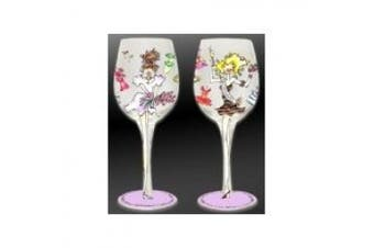 Bottom's Up 440ml Bridesmaid Handpainted Wine Glass