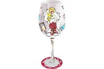 Bottom's Up 440ml Bride to Be Handpainted Wine Glass