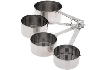 (Measuring Cups) - Amco Stainless Steel Measuring Cups, Set of 4
