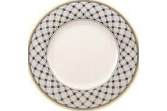 (27 cm, Flat Plate) - Villeroy & Boch Audun Promenade Dinner Plate, 27 cm, Premium Porcelain, White/Grey/Yellow