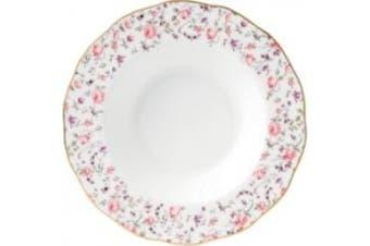 Royal Albert Rose Confetti Formal Rimmed Soup / Salad Bowl