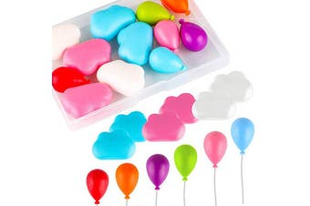 12 Pcs Balloon and Cloud Shaped Decorative Refrigerator Magnets, Perfect Fridge Magnets for Home Whiteboard Office or Classroom (Balloon Cloud)