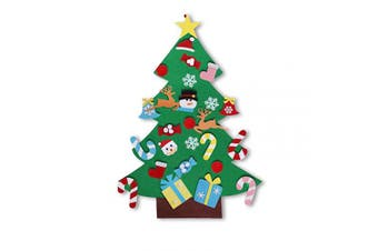DIY Felt Christmas Tree with 26Pcs Xmas Ornaments for Kids, Xmas Gifts, 1m DIY Christmas Tree Wall Hanging Decorations