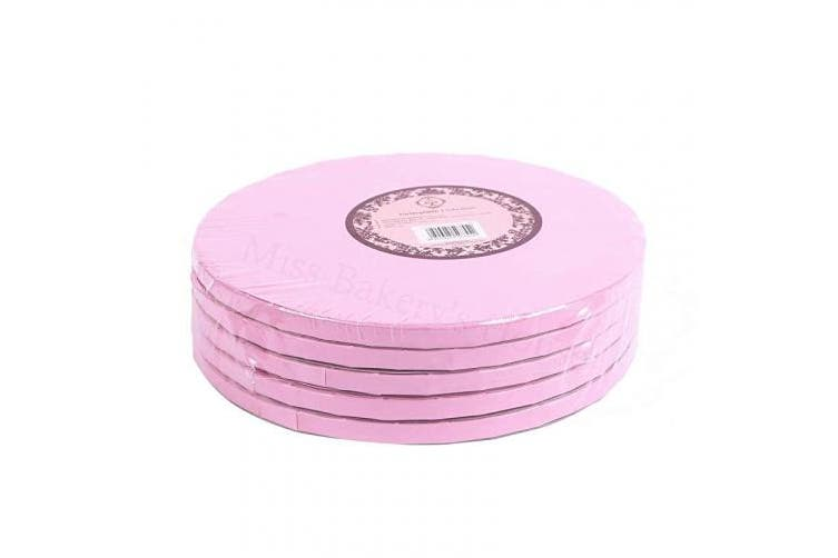 (Pink, Ø 30cm  - 5 pieces) - Miss Bakery's House® Cake Drum - 12 mm (Pink, Ø 12 in - 5 Pieces)