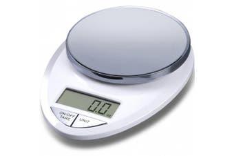 (White Chrome) - Eatsmart Precision Pro Digital Kitchen Scale in White / Chrome