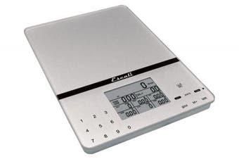 (Silver Gray) - Escali Cesto Portable Nutritional Tracker Scale - Silver