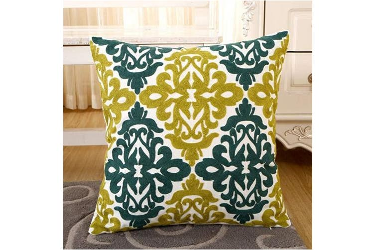 """(Pattern -6) - ZUODU 18""""x18"""" Cushion Cover, 45cmx45cm Embroidered Cotton Decorative Throw Pillow Cover Cushion Case Pillow Case,Sofa,Chair,Car Use (pattern -6)"""
