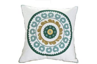 (Pattern-15) - ZUODU Green Cushion Cover Hand Made National Embroidery Bohemian Housewarming Car Home Decoration Cushion Cover/Throw Pillow Cover (Pattern-15)