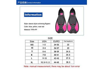 (L(9-10)27.5cm, yellow) - A Point diving Fins Full Foot Snorkelling Light Swim Fin Frog Shoes Short Training Flippers for Adults Men Women Kids
