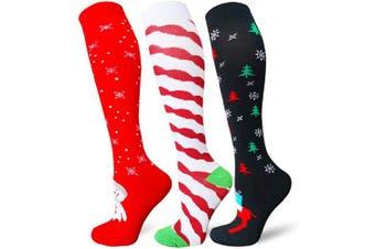 (Small/Medium(US SIZE), Style-2) - Compression Socks Women & Men - Best for Running,Medical,Athletic Sports,Flight Travel, Pregnancy