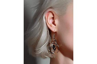 (silver) - Chargances Fashion Earrings for Women Ear-Rings Circle Round Earrings for Women Elegant Silver Colour Geometric Dress Silver Earrings Jewellery for Women and Girls (silver)